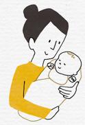 外界に慣れていない赤ちゃんに安心感を与えて